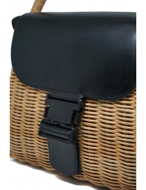 Zucca wicker and black eco-leather bag bags buy online