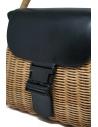 Zucca borsa in vimini ed ecopelle nera ZU07AG125-26 BLACK acquista online