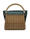 Zucca wicker and green eco-leather bag ZU07AG125-10 GREEN price