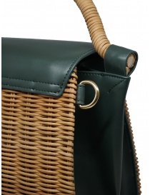 Zucca wicker and green eco-leather bag bags buy online