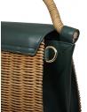 Zucca borsa in vimini ed ecopelle verde ZU07AG125-10 GREEN acquista online