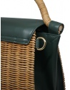 Zucca wicker and green eco-leather bag ZU07AG125-10 GREEN buy online