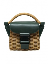 Bags online: Zucca mini bag in wicker and green ecological leather