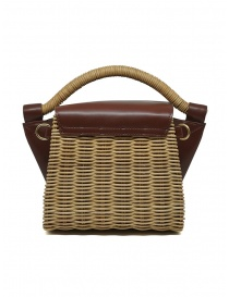 Zucca wicker and brown eco-leather mini bag price