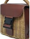 Zucca borsa mini in vimini ed ecopelle marrone ZU07AG126-05 BROWN acquista online