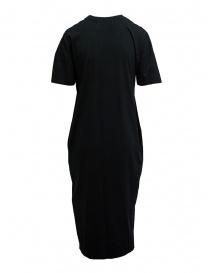 Zucca abito lungo nero con inserto ricamato nero