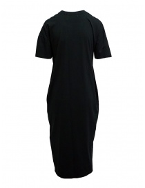 Zucca long black dress with black embroidered insert