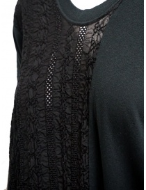 Zucca long black dress with black embroidered insert price