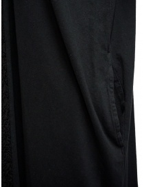 Zucca long black dress with black embroidered insert womens dresses buy online
