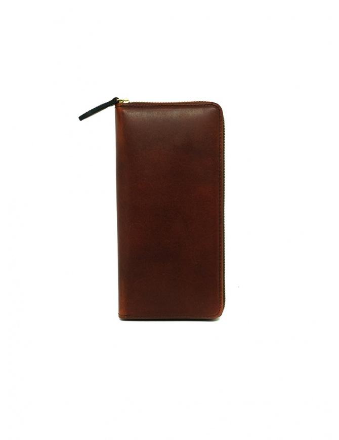 Slow Herbie portafoglio lungo in pelle marrone SO659G HERBIE LONG RED BROWN portafogli online shopping