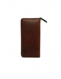 Slow Herbie brown leather long wallet