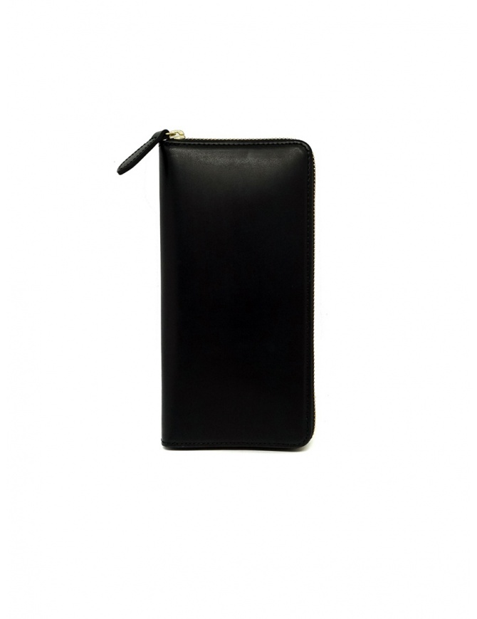 Slow Herbie long wallet in black leather SO659G HERBIE LONG BLACK wallets online shopping
