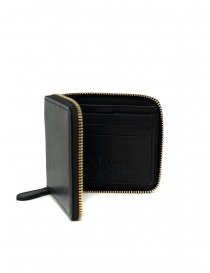 Wallets online: Slow Herbie small square wallet in black leather
