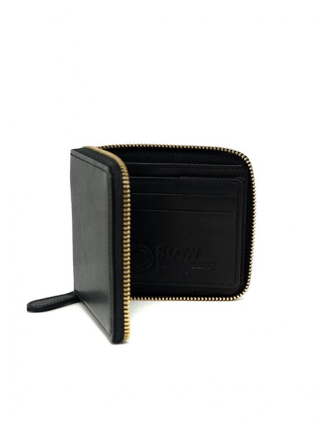 Slow Herbie portafoglio piccolo quadrato in pelle nera SO660G HERBIE SHORT BLACK portafogli online shopping