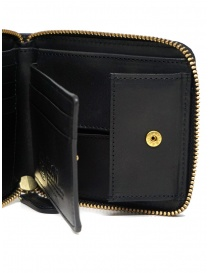 Slow Herbie small square wallet in black leather
