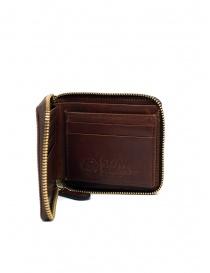 Slow Herbie portafoglio piccolo quadrato pelle marrone online