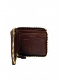 Slow Herbie small square brown leather wallet online