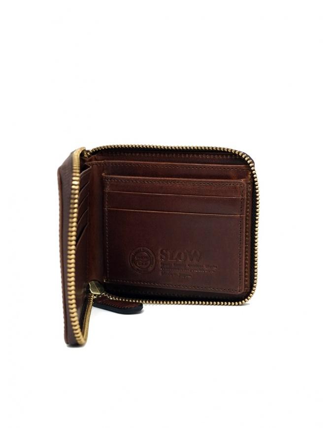 Slow Herbie portafoglio piccolo quadrato pelle marrone SO660G HERBIE SHORT RED BROWN portafogli online shopping