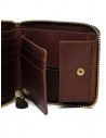 Slow Herbie portafoglio piccolo quadrato pelle marrone SO660G HERBIE SHORT RED BROWN prezzo