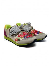 Womens shoes online: Kapital embroidered golden sneakers
