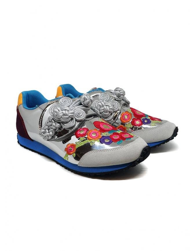 Kapital sneakers argentata ricamata K1910XG535 SILVER calzature donna online shopping