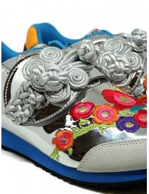 Kapital sneakers argentata ricamata calzature donna acquista online