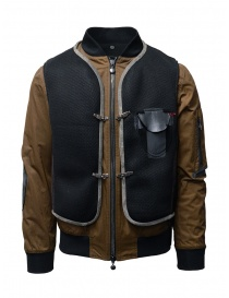 D.D.P. bomber color tabacco con gilet a rete nero MBJ001 BOMBER COT/NYL UOMO order online