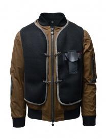 D.D.P. tobacco-colored bomber jacket with black mesh vest online