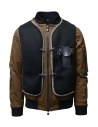 D.D.P. tobacco-colored bomber jacket with black mesh vest buy online MBJ001 BOMBER COT/NYL UOMO