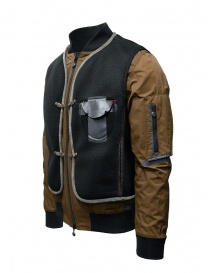 D.D.P. tobacco-colored bomber jacket with black mesh vest price