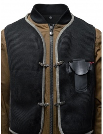 D.D.P. tobacco-colored bomber jacket with black mesh vest mens jackets buy online