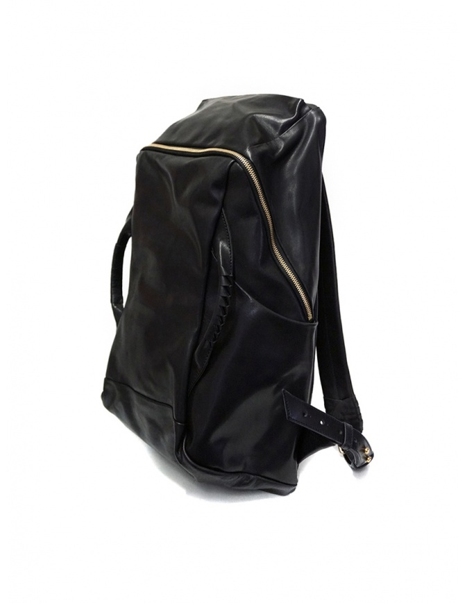 Cornelian Taurus black leather backpack with front handles CO19FWTS010 BLACK bags online shopping