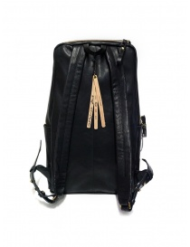 Cornelian Taurus black leather backpack with front handles