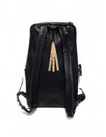 Cornelian Taurus zaino in pelle nera con manici frontali acquista online