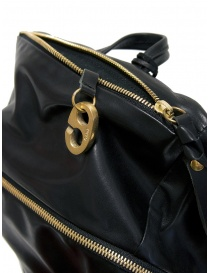 Cornelian Taurus black leather backpack with front handles buy online price