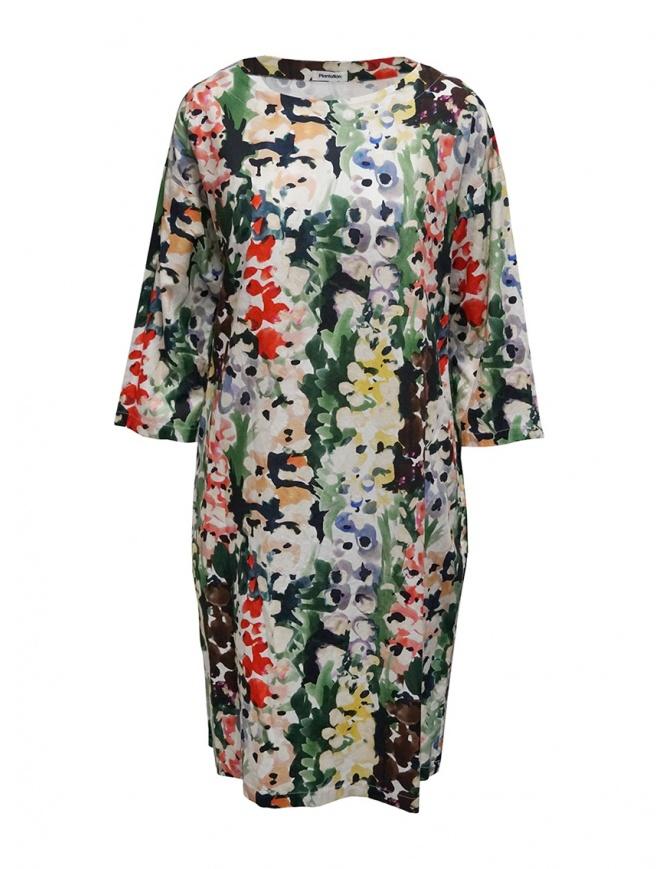 Plantation abito a fiori colorati in cotone PL07FH100-29 GREEN abiti donna online shopping