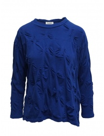 Plantation blue shirt with raised flowers online