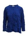 Plantation camicia blu con fiori in rilievo acquista online PL07JJ146-12 L.BLUE