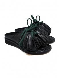 Zucca sandali in pelle nera con nappine ZU07AJ116-26 BLACK order online