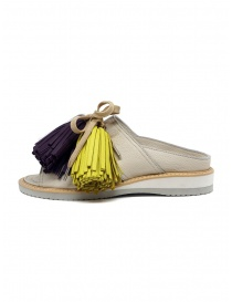 Zucca leather sandals with colored tassels