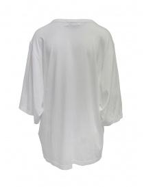 Zucca t-shirt lunga con stampa floreale argento e crema