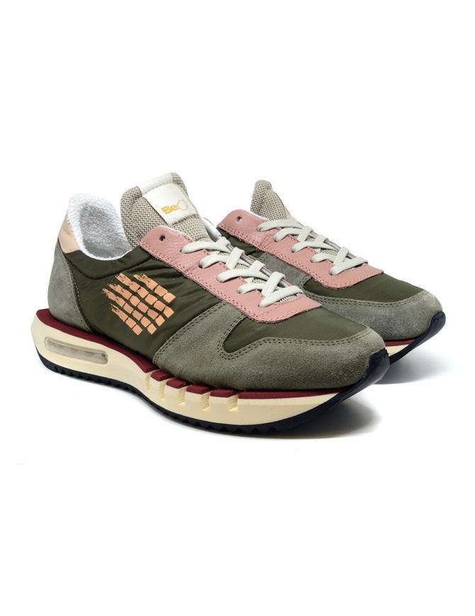 BePositive Cyber Run sneakers verdi e rosa CYBER RUN S0CYBER01/NYL MIL calzature uomo online shopping