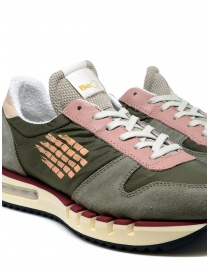 BePositive Cyber Run green and pink sneakers mens shoes buy online