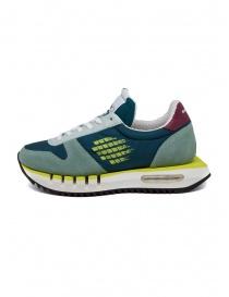 BePositive Cyber Run sneakers ottanio e gialle