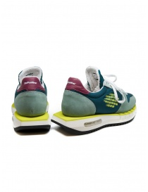 BePositive Cyber Run teal and yellow sneakers price
