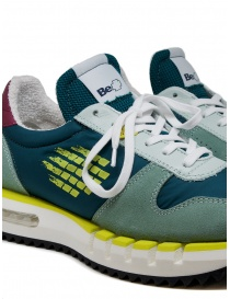 BePositive Cyber Run teal and yellow sneakers mens shoes buy online