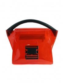 Zucca mini borsa rossa in PVC trasparente online