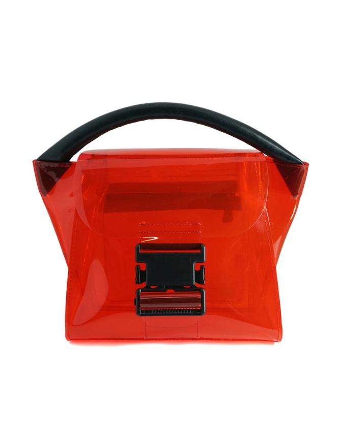 Zucca mini borsa rossa in PVC trasparente ZU07AG268-21 RED borse online shopping