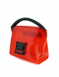 Zucca mini borsa rossa in PVC trasparente