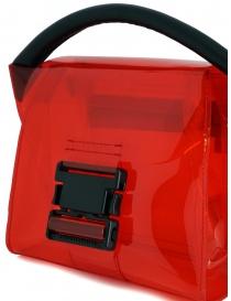 Zucca mini borsa rossa in PVC trasparente borse acquista online
